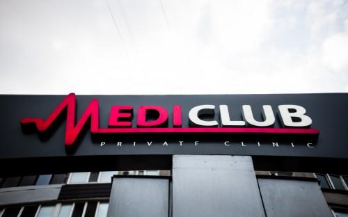 """Вивіска для медичного центру """"MediClub"""""""
