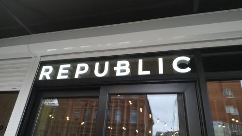 """Вывески для рестобара """"REPUBLIC"""""""